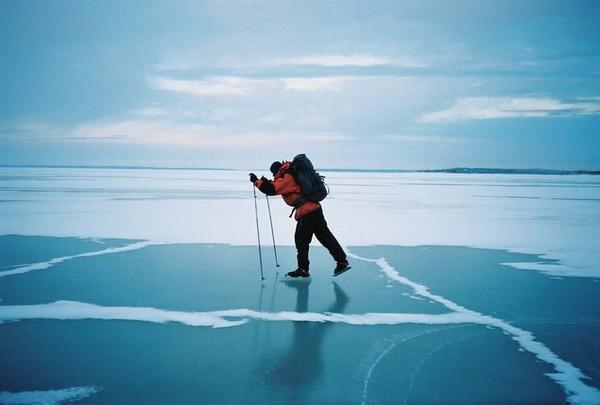 Trip-skating on the Baltic Sea