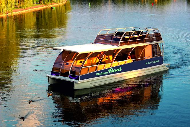 Kybynlar boat-trip in Trakai