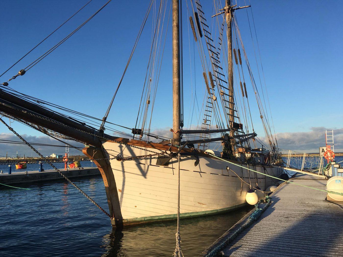 "INCENTIVE IDEA FOR GROUPS: Breakfast or dinner at Tallinn Bay at only genuine Estonian gaff schooner ""Hoppet"""